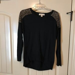 Michael Kors black with gold detail sweater